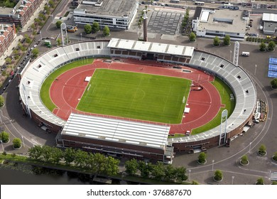 Aerial view of Olympic stadium Amsterdam. Amsterdam hosted the Olympic Summer Games of 1928.