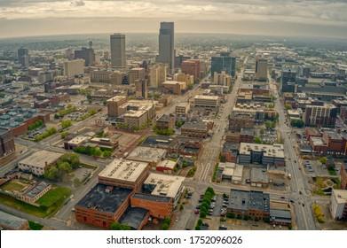 Aerial View of Omaha, Nebraska