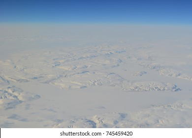 aerial view on arctic landscape