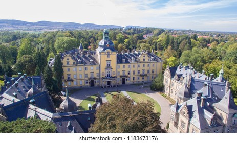Aerial view on the Buckeburg Palace in Germany