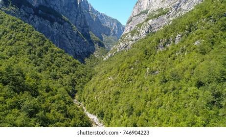 Aerial view on the canyon - Durmitor mountain, Montenegro