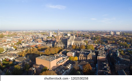 Aerial view on the Center of Den Bosch, Netherlands