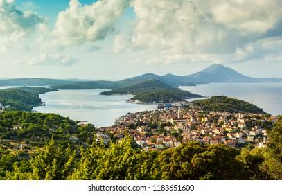 Aerial view on city Mali Losinj in Croatia, Europe