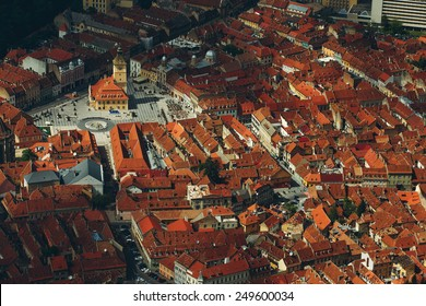 Aerial view on Cluj Napoca in Romania