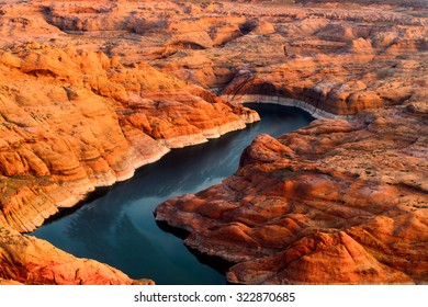 Aerial view on the Colorado river and the Grand Canyon, Arizona, USa