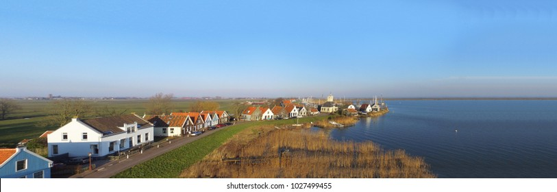 Aerial view on Dugrerdam. This small former fishing village is part of Amsterdam.