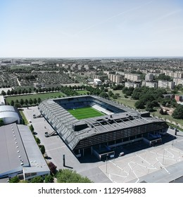 An aerial view on Malmö FF stadium. May 2018.