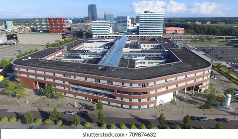 Aerial view on the Flevo hospital in Almere
