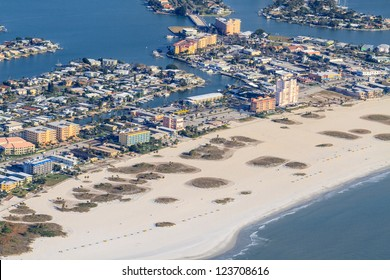 Aerial View on Florida Beach near St. Petersburg