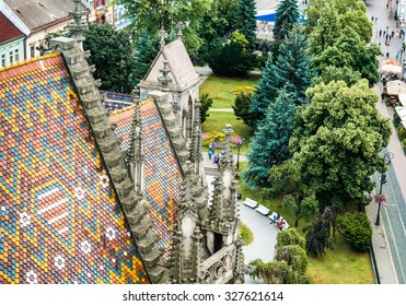 aerial view on the historic center of Kosice. Slovakia