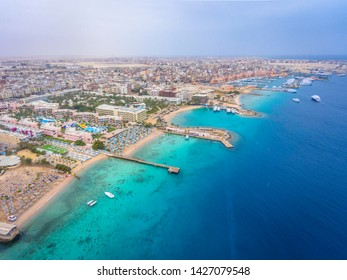 An aerial view on Hurghada town in Egypt