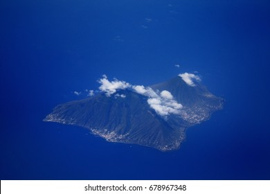 Aerial view on the islands.Close up photo