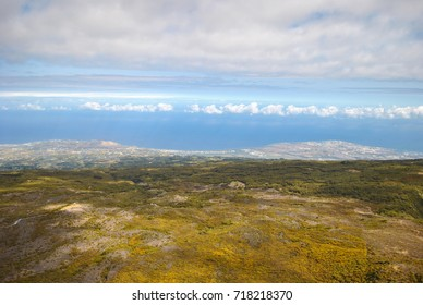 Aerial view on landscape, Reunion Island, France