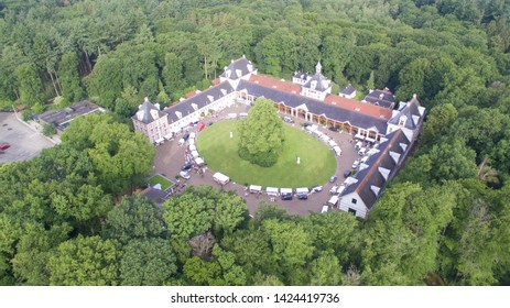 Aerial view on The Loo Palace stables and Carriage house, Netherlands