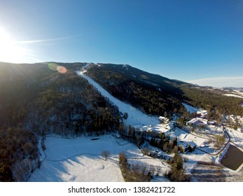 Aerial view on Maribor Pohorje Ski Resort - Golden Fox - FIS Ski World Cup for Women