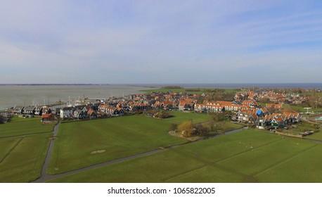 Aerial view on Marken, Netherlands