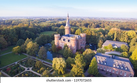 Aerial view on the Moyland Castle in Germany