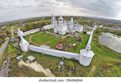 Aerial view on Nikitskiy monastery in Pereslavl Zalessky, Yaroslavl Region, Russia