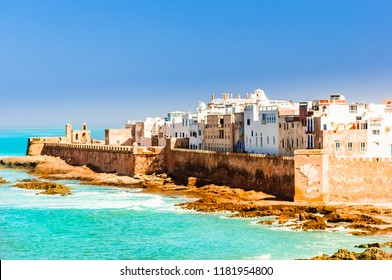 Aerial view on old city of Essaouira in Morocco