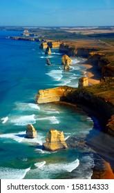 Aerial view on Twelve Apostles, Great Ocean Road, Australia.