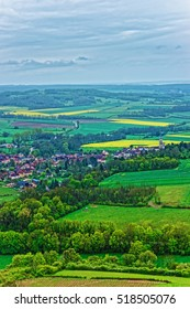 Aerial view on Vezelay town and village in Avallon of Yonne department in Bourgogne Franche Comte region, France