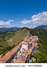 Aerial View of Opi, L'Aquila, Abruzzo, Italy