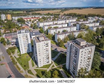 Aerial view of Osada Jana, Tarnowskie Gory, Poland