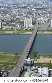 Aerial view of Osaka City