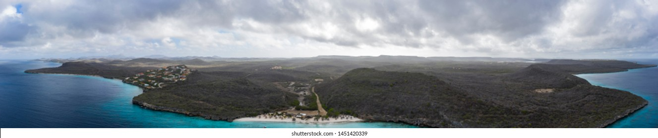 Aerial view over area Cas Abao - Curaçao/Caribbean /Dutch Antilles
