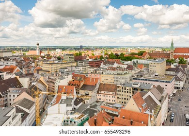 Aerial view over Augsburg (Bavaria, Germany)