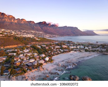 Aerial view over Clifton beach, Cape Town, South Africa
