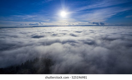 Aerial view  over the clouds / sky  - Shutterstock ID 525196981