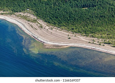 aerial view over the coast of Saaremaa island