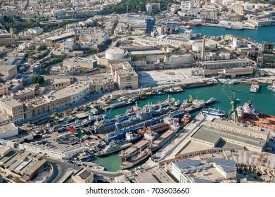 aerial view over the Valletta (Malta)