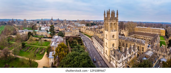 Aerial view of Oxford, United Kingdom