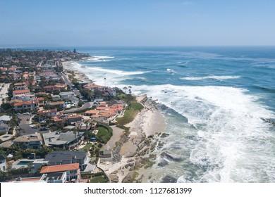 Aerial View of the Pacific Coast. Laguna Beach, Orange County, California USA.