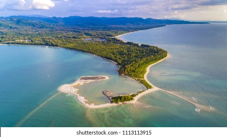 Aerial View of Pak Weep Beach and Coconut Beach of Khao Lak, Thailand - Shutterstock ID 1113113915
