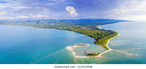 Aerial View of Pak Weep Beach and Coconut Beach of Khao Lak, Thailand - Shutterstock ID 1113113918
