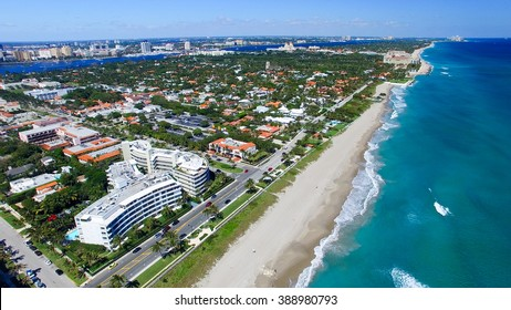 Aerial view of Palm Beach - Florida.