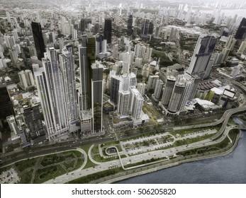Aerial view of Panama City, Panama