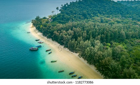 Aerial view of paradise Ko Kradan, Thailand