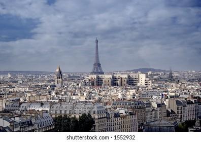 Aerial view, Paris, Eiffel tower