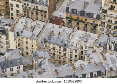Aerial view of Paris rooftops - Shutterstock ID 1319622893