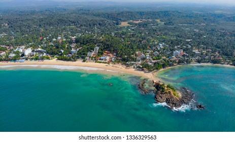 Aerial View of Parrot Island, Mirissa, Sri Lanka