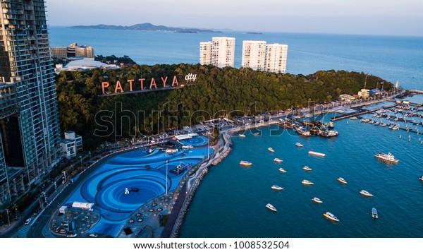 Luftbild von Pattaya , Thailand .