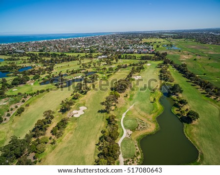 Aerial View Patterson River Golf Club Stock Photo (Edit Now