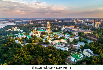 Aerial view of Pechersk Lavra in Kiev. A UNESCO world heritage site in Ukraine