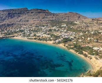 Aerial view of Pefkos, Rhodes