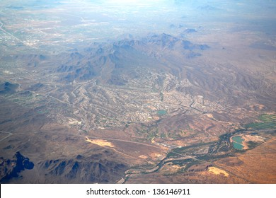 Aerial View of Phoenix, Arizona USA