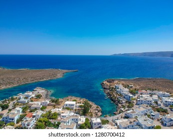Aerial view of the picturesque village  Avlemonas or Avlemon in Kythera island, Greece.